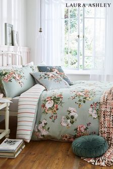 Laura Ashley Sage Rosemore Duvet Cover and Pillowcase Set