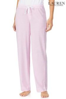 Lauren Ralph Lauren Pink Stripe Cotton Jersey Separate Long Pants