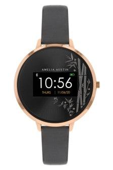 Amelia Austin Series 3 Charcoal Grey Bamboo Smart Watch