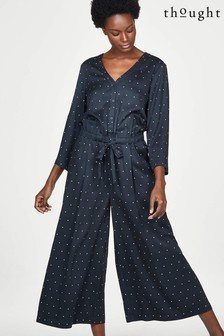Thought Navy Wide Leg Jumpsuit