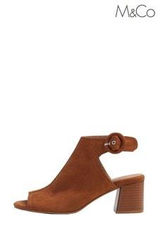 M&Co Brown Open Toe Sandals