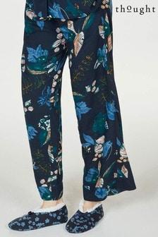 Thought Blue Junetta Printed Bamboo Organic Cotton Slipper Socks