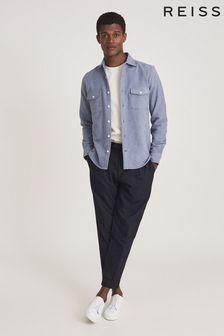 Reiss Blue Miami Twin Pocket Overshirt