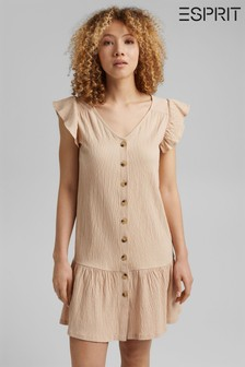 Esprit Beige Jersey Dress