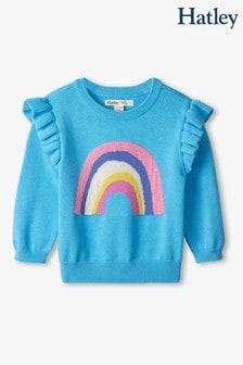 Hatley Rainbow Baby Ruffle Sleeve Sweater
