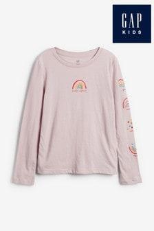Gap Long Sleeve Rainbow T-Shirt