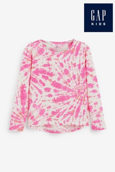Gap Long Sleeve Tie Dye T-Shirt