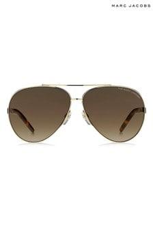 Marc Jacobs Brown Pilot Sunglasses