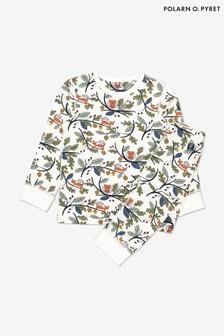Polarn O. Pyret Organic Cotton Acorn Print Pyjamas