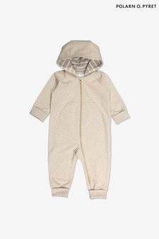 Polarn O. Pyret Organic Cotton Hooded All-In-One
