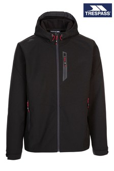 Trespass Mens Black Marlon Softshell Tp75 Jacket