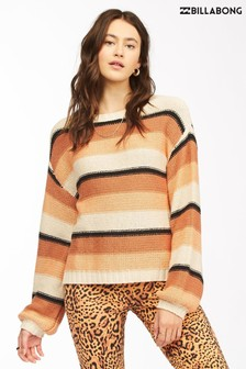Billabong Brown Seeing Double Cropped Sweatshirt