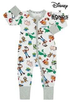 Bonds Newborn Boys White Disney Pixar Zip Wondersuit
