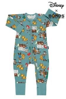 Bonds Newborn Boys Grey Disney Pixar Zip Wondersuit