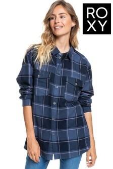 Roxy Blue Turn It Up Long Sleeve Shirt