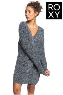 Roxy Black Turn A Corner Long Sleeve Dress