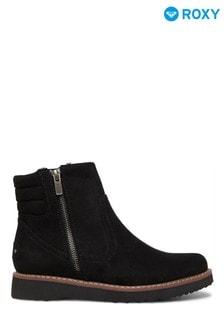 Roxy Black Jovie Fur-Faux Leather Boots