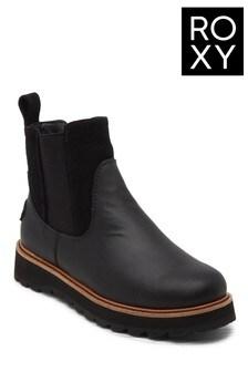 Roxy Black Marren Leather Boots