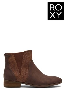 Roxy Women Brown Linn Mid-Heel Boots