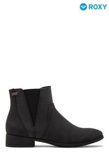 Roxy Black Linn Mid-Heel Boots