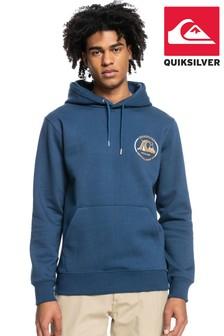 Quiksilver Men Blue Mirror Logo Fleece