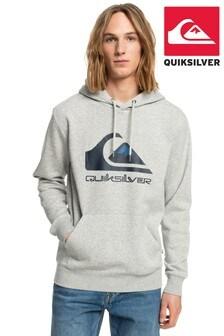 Quiksilver Men Grey Big Logo Fleece