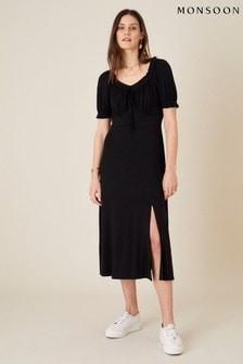 Monsoon Sweetheart Neck Jersey Midi Dress