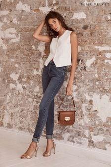 Mint Velvet Houston Mid Indigo Slim Jeans