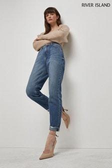 River Island Denim Medium Mom High Waist Jeans