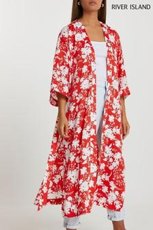 River Island Red Floral Printed Kimono