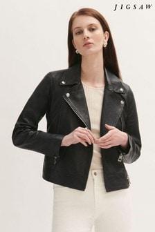 Jigsaw Bleeker Leather Biker Jacket