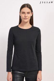 Jigsaw Supima Cotton Long Sleeve T-Shirt