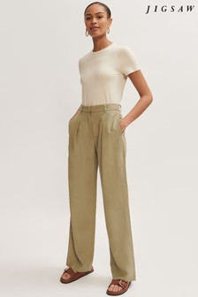 Jigsaw Relaxed Pleat Front Trousers