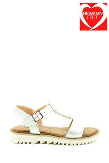 Heavenly Feet White Sling-Back Sandals