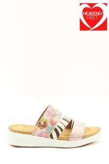 Heavenly Feet Pink Ladies Sandals