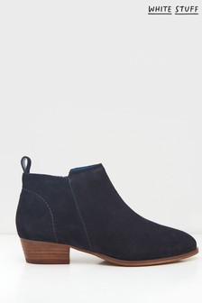 White Stuff Navy Willow Suede Ankle Boots