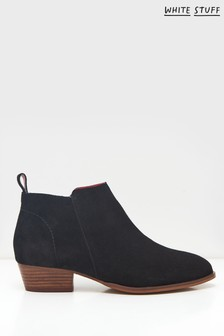 White Stuff Black Willow Suede Ankle Boots