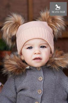 The Little Tailor Pink Pom Pom Hat