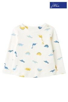 Joules Harbour Dinosaur Print Organic Cotton Top