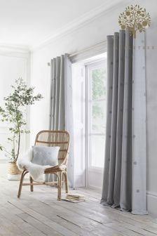 Appletree Silver Zara Eyelet Curtains
