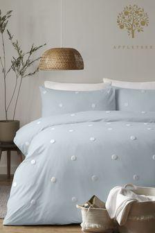 Appletree Duck Egg Dot Garden Duvet Cover and Pillowcase Set