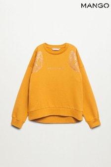 Mango Printed Cotton Sweatshirt