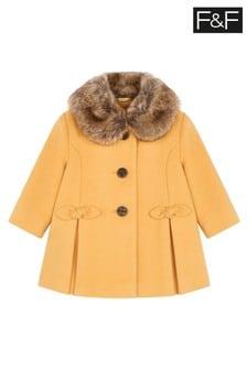 F&F Gold Wool Coat