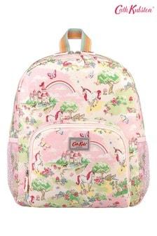 Cath Kidston Kids Pink Unicorn Kingdom Classic Large Backpack With Mesh Pocket