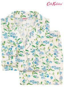 Cath Kidston Forget me not Cream Frill Woven PJ Set