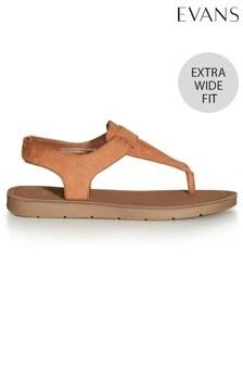 Evans Extra Wide Fit Lexie Slingback Sandals