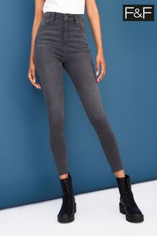 F&F Grey Contour Jeans