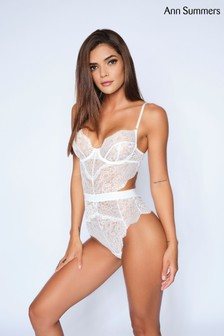 Ann Summers White Hold Me Tight Lace Body