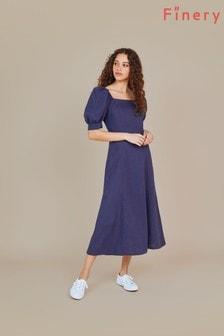 Finery Blue Kaylani Midi Dress