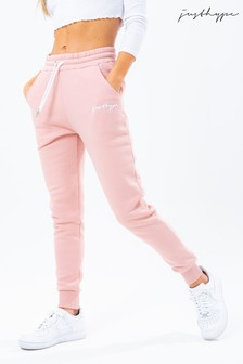 Hype. Womens Pink Scribble Logo Joggers